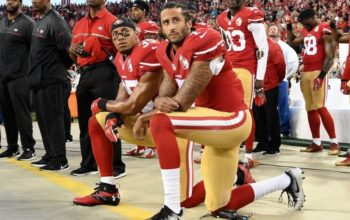 Colin Kaepernick took a knee to protest police brutality.